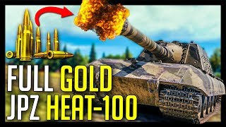 ► Full Gold JagdPanzer HEAT-100 with 420 Penetration - World of Tanks JagdPanzer E-100 Gameplay