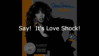 "Donna Summer - Love Shock LYRICS SHM ""All Systems Go"" 1987"