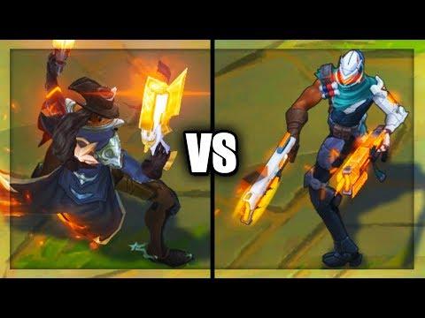 High Noon Lucian VS PROJECT Lucian Legendary vs Epic Skins Comparison (League of Legends)