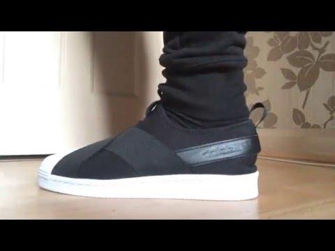 SNEAKER PICK UP - Adidas Womens Superstar Slip On - Black/White