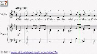 We Wish You A Merry Christmas - Christmas Sheet Music Video Score