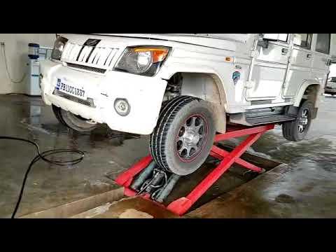 car washing scissor lift
