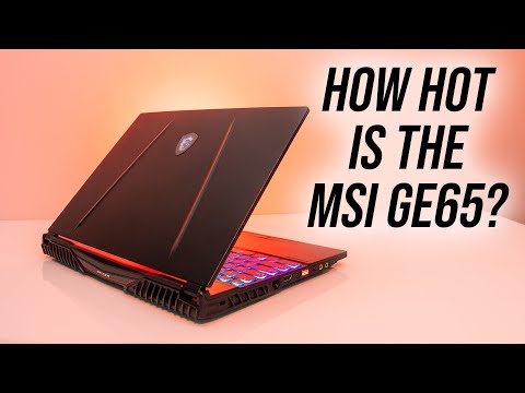 MSI GE65 9SE Gaming Laptop Thermal Testing