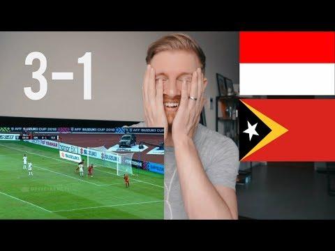 INDONESIA VS TIMOR LESTE (AFF) 3 - 1  AFF SUZUKI CUP// INDONESIAN FOOTBALL REACTION
