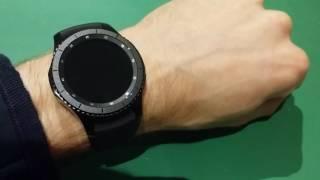 Samsung Gear S3 Power Saving Mode demonstrated.