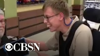 """Boy in wheelchair gets personalized """"promposal"""""""