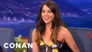 Aubrey Plaza: F#*% You Old People, Im Going To Live Forever! - CONAN On TBS
