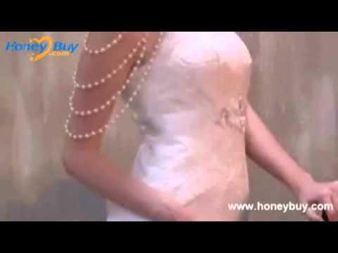 Applique Handmade Beading 2013 Vintage Style Wedding Dresses.flv