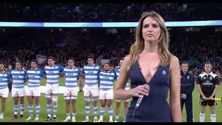 Pumas v Australia - Himno Argentino - Josefina Achaval + Faryl Smith - Rugby Union