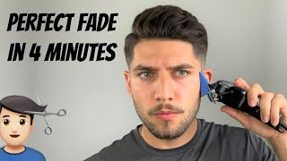 Perfect Fade Self-Haircut In 4 Minutes | How To Cut Mens Hair 2020