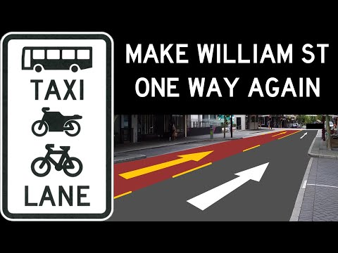 Perth traffic: Make William St One way Again with a 24/7 Bus Lane