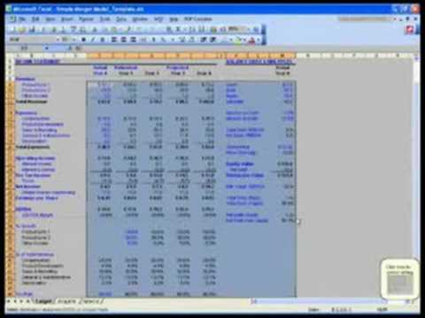 WST: 14.3 Merger Modeling Basics - Simple Merger Model - YouTube