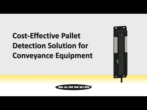 Solución rentable para detección de pallets en equipos de empacado y desempacado.