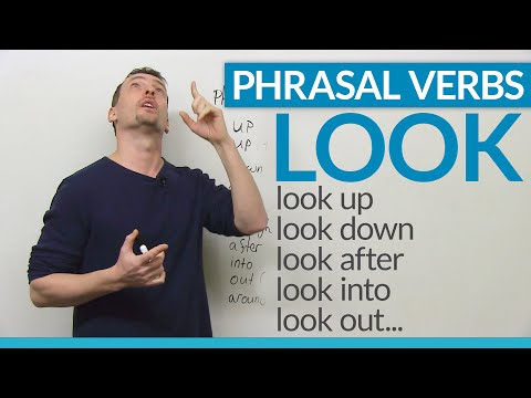video phrasal verbs con il verbo look