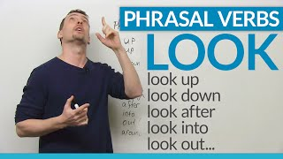 """LOOK at these PHRASAL VERBS with """"look"""" 