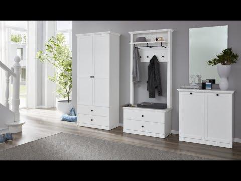 Garderobenprogramm Baxter in weiß Landhausstil