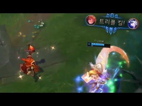 LCK夏季賽精華 - SKT T1新人中路操作讓全場驚呼!!