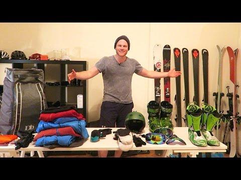 8000€ Ski Equipment - was nehme ich mit auf'n Berg? | Vlog 79