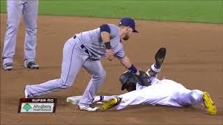 MLB Josh Harrison Avoiding Tags