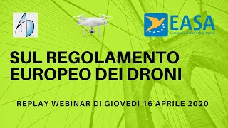 Droni in rotta verso EASA. Il Regolamento europeo dei droni