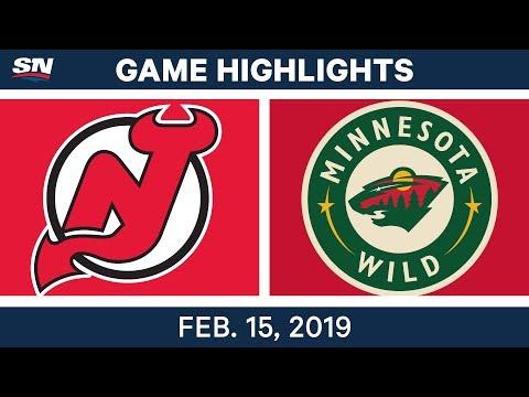 NHL Highlights | Devils vs. Wild - Feb 15, 2019