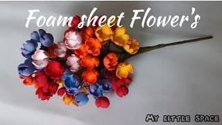Wow..! Diy Handmade Flowers With Foam Sheet | How To Make Beautiful Foam Sheet Flowers