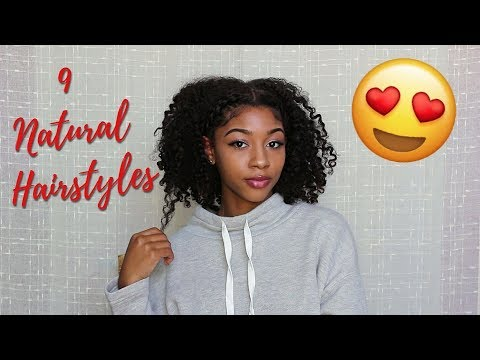 9 Ways to Style a Twist Out or Braid Out ! ( Natural Curly Hair )