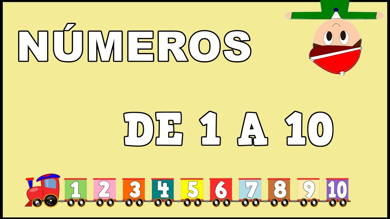 Los Números de 1 a 10 - El Tren de los Números - Numbers in Spanish for Kids