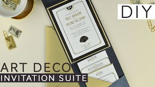 Art Deco Inspired Wedding Invitation Suite