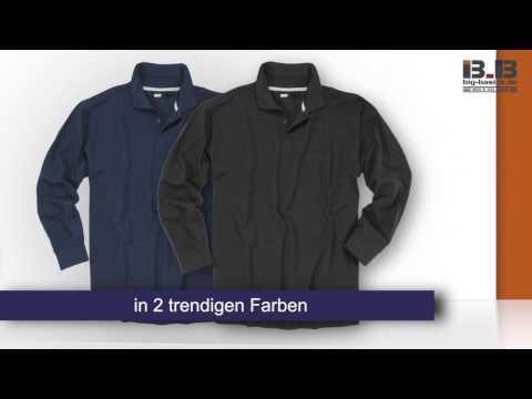 Langarm Polo Shirt von Greyes in Übergrößen bis 8XL bei Big-Basics.de
