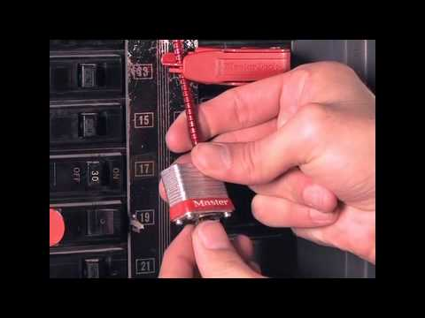 Screen capture of Master Lock Safety 7C5RED - Circuit Breaker Compact Padlock