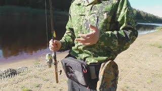 Сумка поясная рыболовная визард pro графит