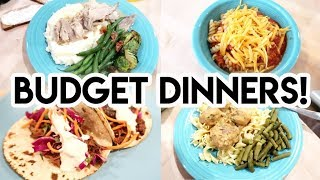 😲 7 BUDGET FRIENDLY DINNERS FROM THE PANTRY! 💵 WHATS FOR DINNER? 🍽 FREEZER COOKING