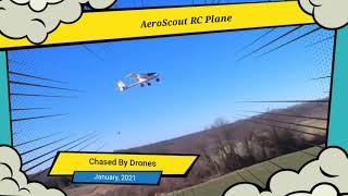 RC Plane Chased By Drones
