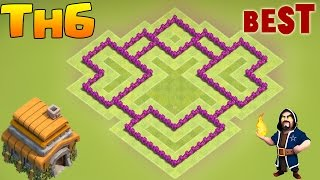 Clash of Clans - Town Hall 6 (TH6) Farming Base - Most