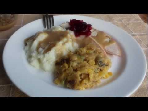 Corn & Wild Mushroom Spoonbread — Sweet Corn & Mushroom Cornbread Dressing Recipe