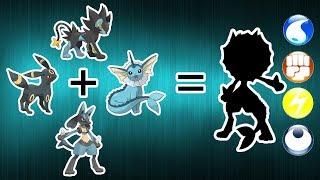 Pokemon Fusion Requests #172: Umbreon + Luxray + Vaporeon + Lucario.