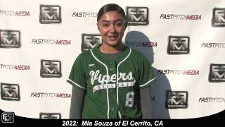 2022 Mia Souza Pitcher and Third Base Softball Skills Video - Game Footage Included