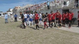 preview picture of video 'Darrer partit del CD Blanes al camp de futbol d'Els Pins'