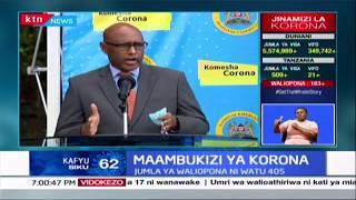 Kenya sasa imerekodi visa vipya 62 vya maambukizi ya korona  kwenye kipindi cha saa 24 zilizopita