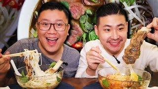 BEEF PHO MUKBANG - VIETNAMESE NOODLE SOUP