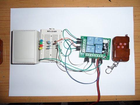 Programacion del receptor de 4 canales de 12v de 315mhz inteligente sin jumper, y vincular con emiso