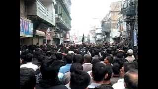 preview picture of video 'Youm-e-Ashura Jaloos in front of Imambargah Colonel Maqbool Hussain'