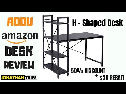 AOOU AMAZON DESK REVIEW AND DISCOUNT CODES   H – SHAPED DESK