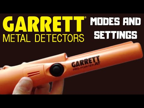 Garrett Pro-Pointer AT - Modes and Settings