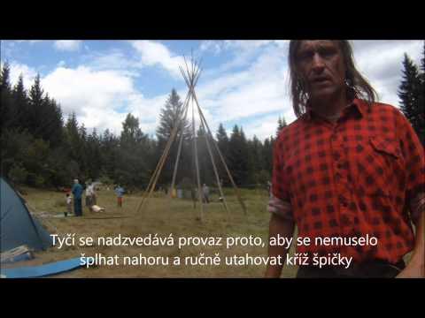 Jak se staví indiánské tee-pee
