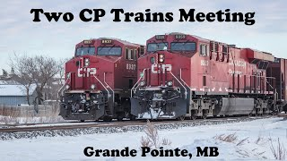 Two if by Train - CP Trains Meeting in Grande Pointe