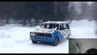 Ралли и аварии на ВАЗ 2104! (тестирование)