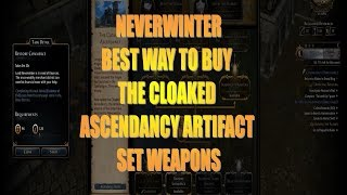 Neverwinter Best Way to Buy The Aboleth Artifact Set in The Cloaked Ascendancy Pc, PS4, Xbox