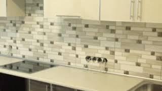 Кухня фото № 43 алюминиевом профиле цвет Бежевый - структура дерева.. от компании Фаберме - видео